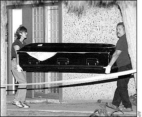 Marcus Wesson's coffins