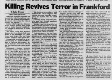Killer Revives Terror in Frankford
